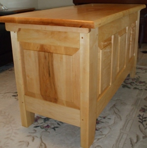 Blanket Chest Finished Left End View